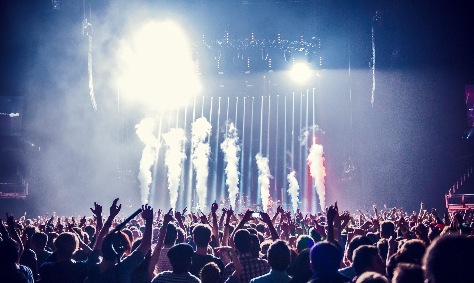 Rök på en konsert